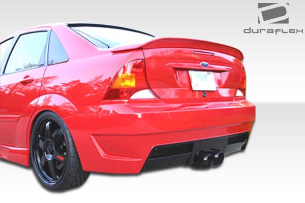 00 04 ford focus 4dr duraflex pro dtm rear bumper 1pc body kit 100032 overstock ebay. Black Bedroom Furniture Sets. Home Design Ideas