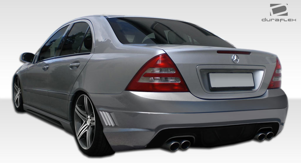 2001-2007 Mercedes C Class W203 Duraflex W-1 Side Skirts Rocker Panels - 2 Piece, OverDosed Performance (ODParts.ca)