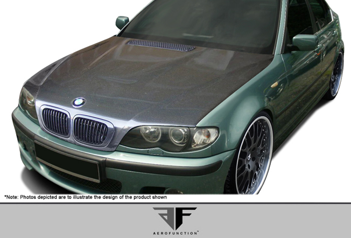 af 1 hood cfp 1 piece for 2004 2006 bmw 3 series e46. Black Bedroom Furniture Sets. Home Design Ideas