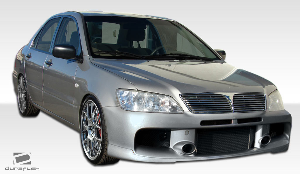 2002 2003 mitsubishi lancer duraflex mr edition front bumper cover 1 piece