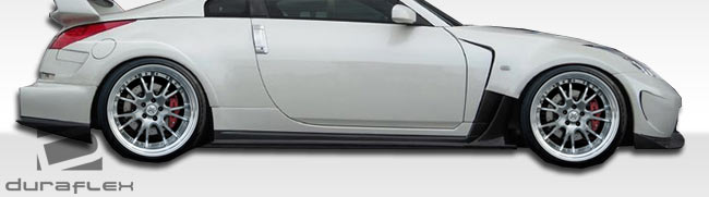 duraflex 107317 nissan 350z duraflex am s wide body kit 11 piece rh lmperformance com 350z fender badge 350z fender badge