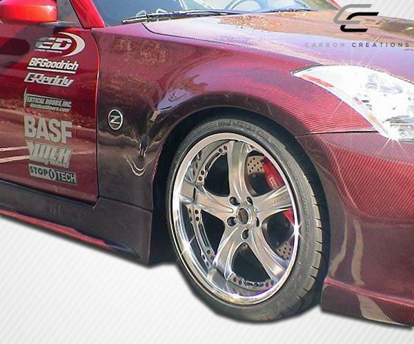 03 08 fits nissan 350z oem carbon fiber creations body kit fenders