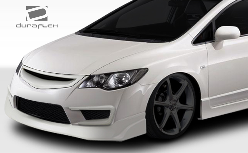 06-11 honda civic 4dr jdm type r duraflex conv front bumper lip body kit  107742 2 2 of 6