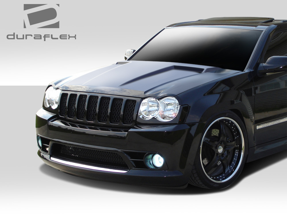 duraflex 107046 challenger hood 1 piece fit jeep grand cherokee 05 10 ebay. Black Bedroom Furniture Sets. Home Design Ideas