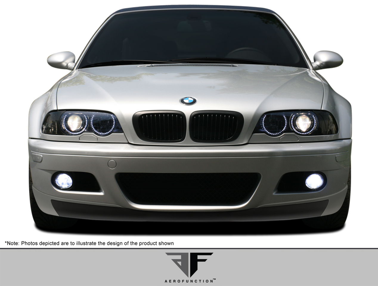 2001 2006 bmw m3 e46 2dr af 2 front add on spoiler gfk. Black Bedroom Furniture Sets. Home Design Ideas