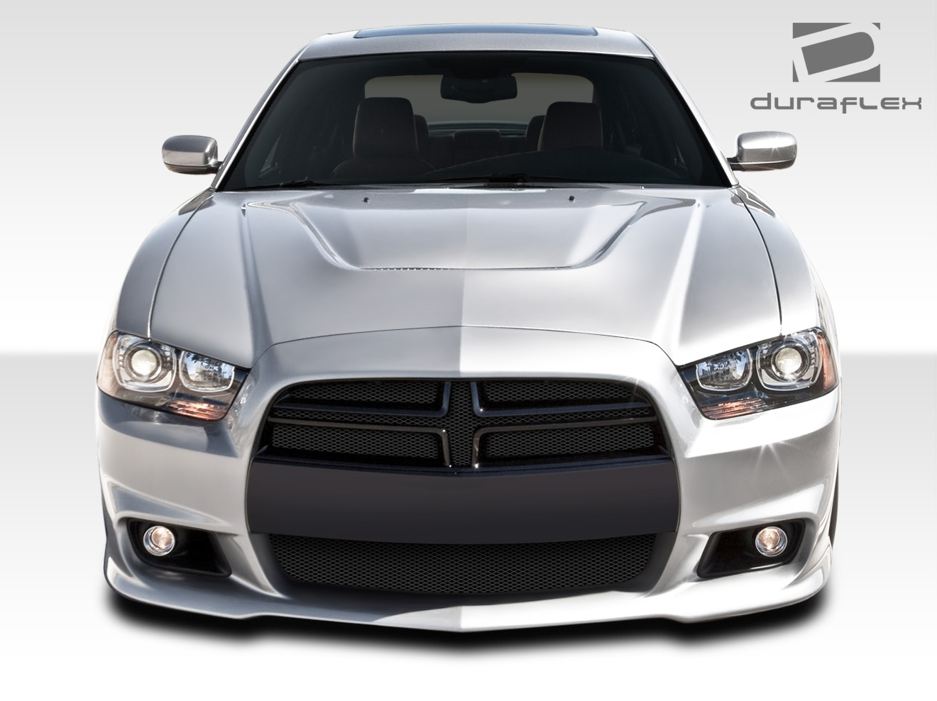 fit 2011 2014 charger duraflex srt look front bumper cover. Black Bedroom Furniture Sets. Home Design Ideas