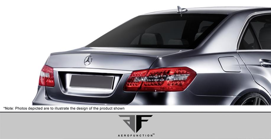 2016 Mercedes E Class 4DR - Polyurethane Wing Spoiler Bodykit - Mercedes E Class W212 AF-1 Trunk Spoiler ( PUR-RIM ) - 1 Piece