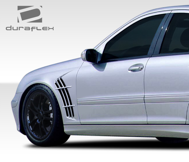fender body kit for 2006 mercedes c class 2001 2007 mercedes c class w203 duraflex w 1 fenders. Black Bedroom Furniture Sets. Home Design Ideas