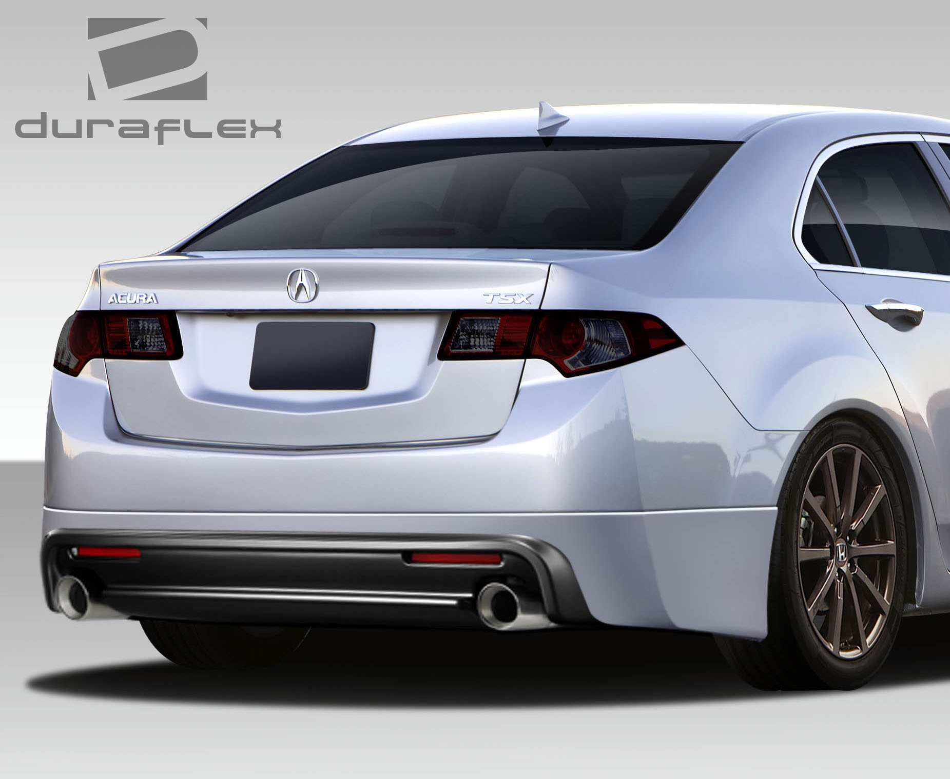Lovely 2009 acura tsx lip kit mipgt 09 14 acura tsx type m duraflex rear bumper lip body kit sciox Images