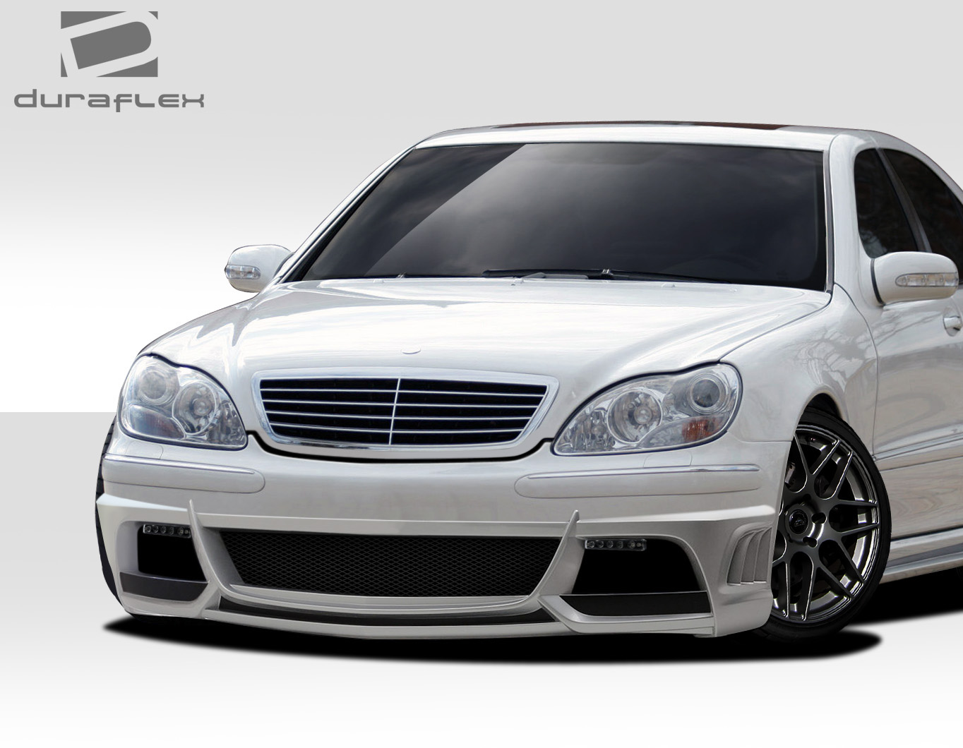 2000 mercedes s class fiberglass front bumper body kit 2000 2002 mercedes s class w220. Black Bedroom Furniture Sets. Home Design Ideas
