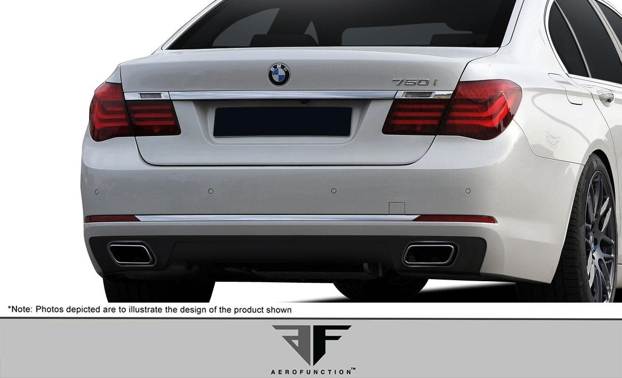 2016 BMW 7 Series ALL Rear Lip/Add On Bodykit - BMW 7 Series F01 F02 AF-1 Rear Diffuser ( GFK ) - 1 Piece