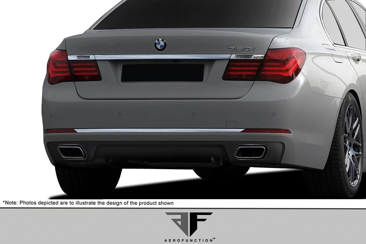 2016 BMW 7 Series ALL Rear Lip/Add On Bodykit - BMW 7 Series F01 F02 AF-1 Rear Diffuser ( CFP ) - 1 Piece