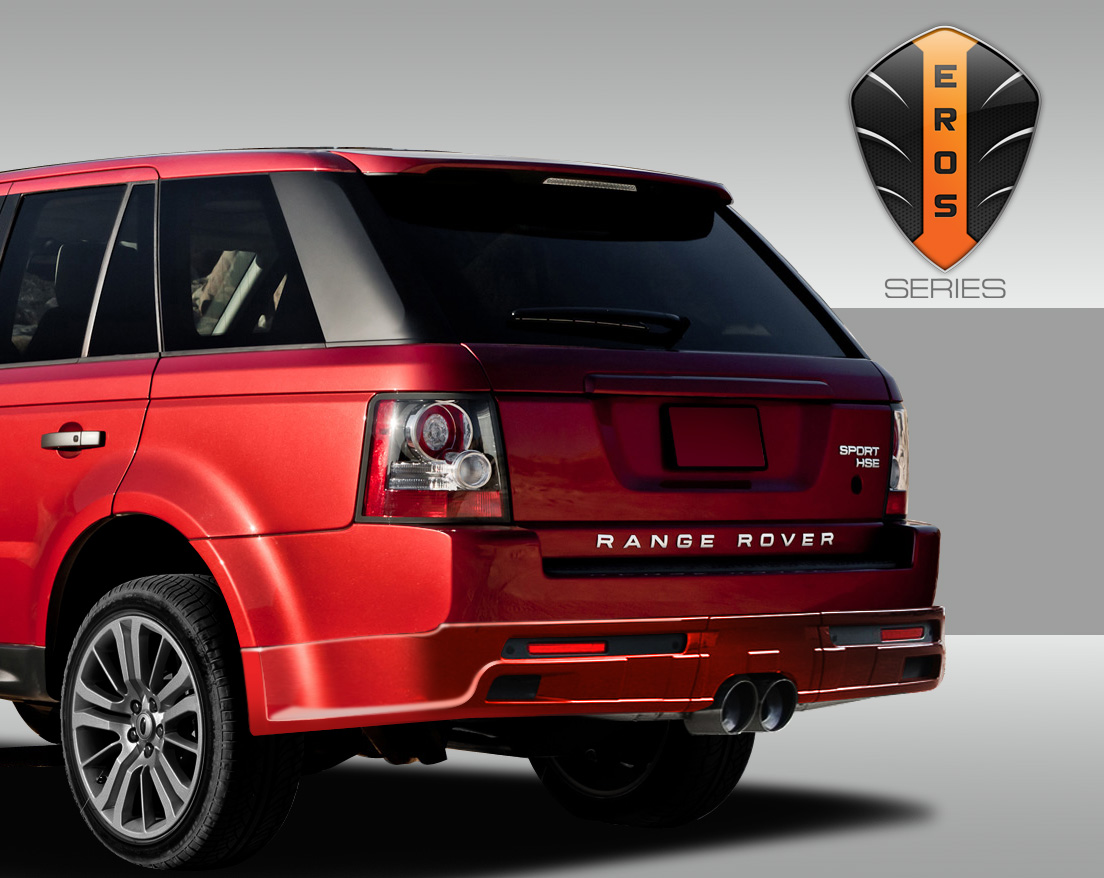 10 13 range rover sport eros version 1 rear lip center exhaust body kit ebay. Black Bedroom Furniture Sets. Home Design Ideas