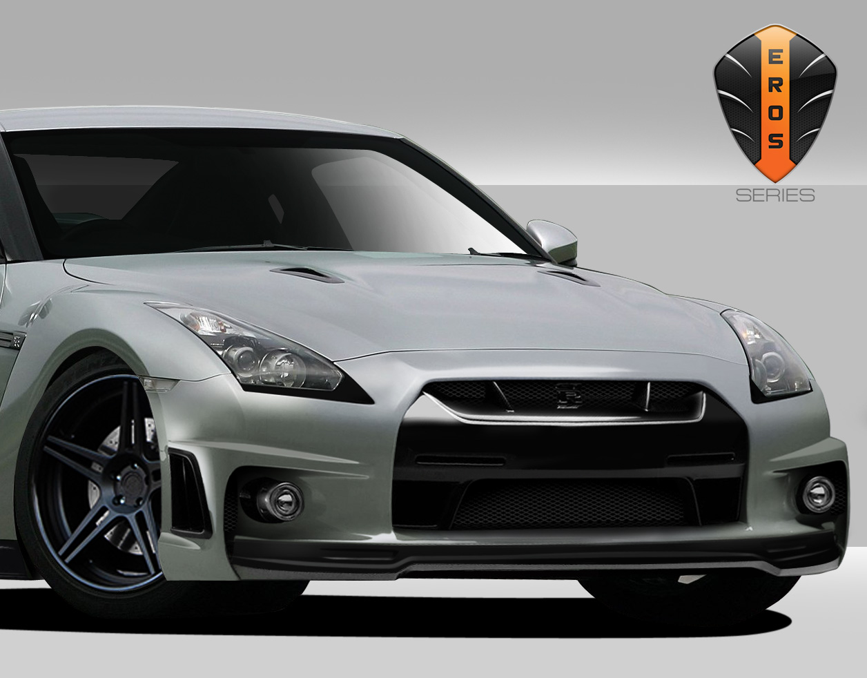 2016 nissan gtr fiberglass front bumper body kit nissan gt r r35 eros version 6 front. Black Bedroom Furniture Sets. Home Design Ideas