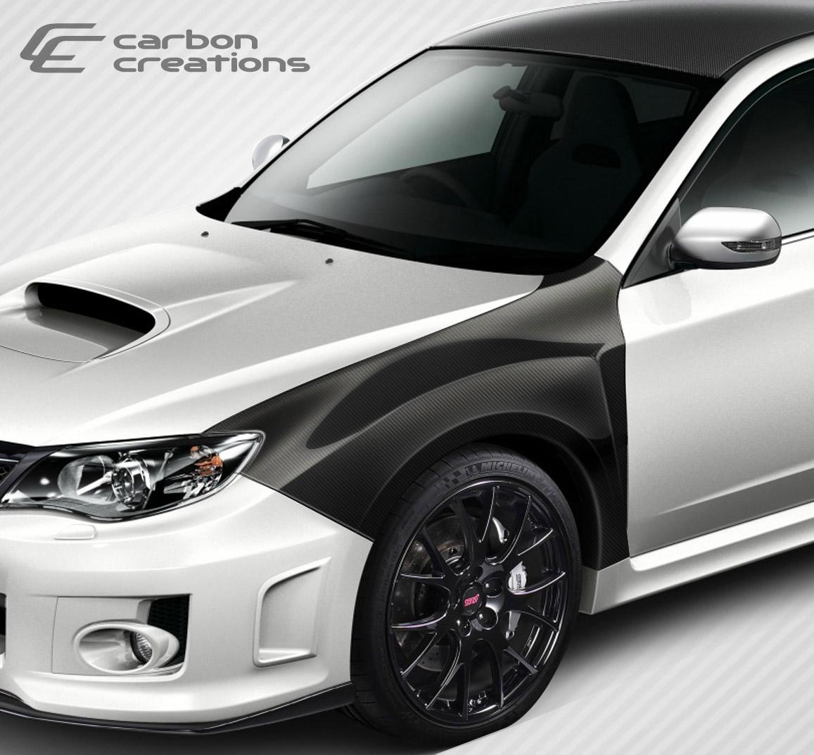 Raj D S 2014 Impreza Wrx Premium: Carbon Creations 08-14 Vortex Fenders- 1YR Warranty
