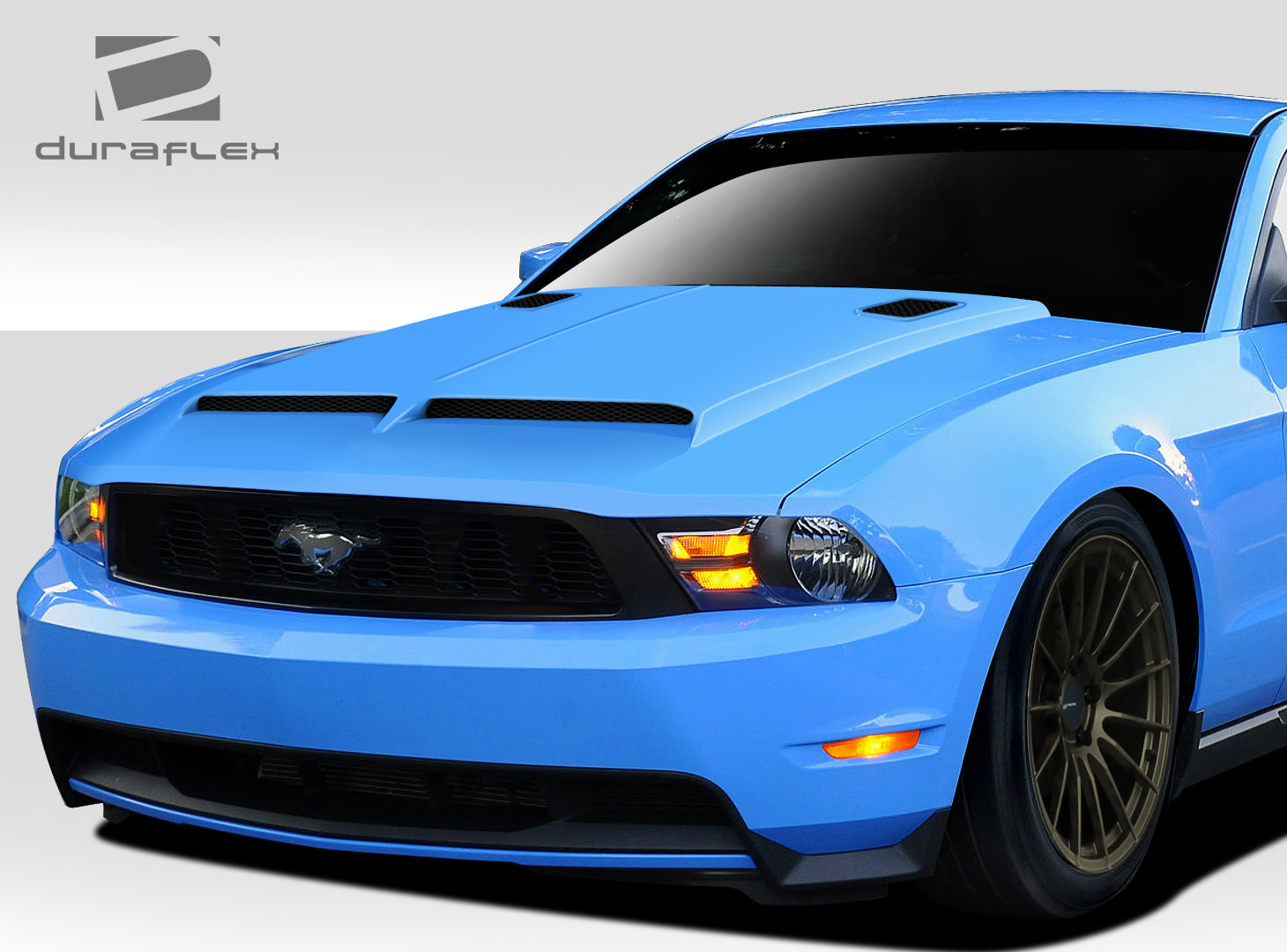 extreme dimensions 2010 2012 ford mustang duraflex gt500 hood 1 piece wholesale car parts. Black Bedroom Furniture Sets. Home Design Ideas