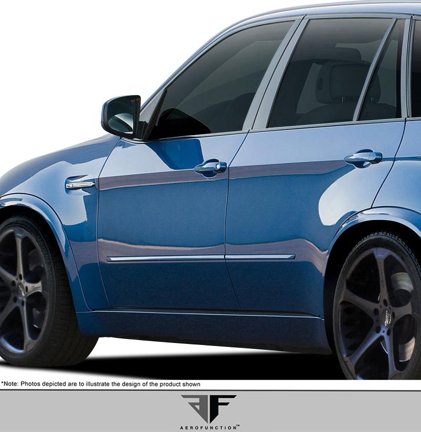 Polyurethane Sideskirts Bodykit for 2007 BMW X5 ALL - BMW X5 E70 AF-1 Side Skirt Rocker Panels ( PUR-RIM ) - 2 Piece