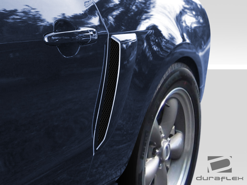 2010 2014 ford mustang duraflex boss look side scoops 2 piece overdosed performance odparts ca