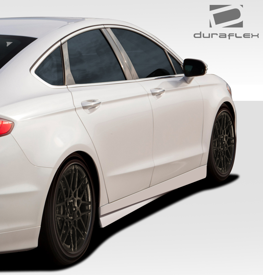 Fibergl Sideskirts Body Kit For 2016 Ford Fusion 2017 Duraflex Racer
