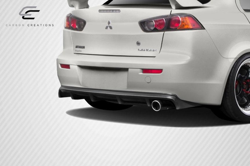 08 15 mitsubishi lancer mpower carbon fiber rear bumper. Black Bedroom Furniture Sets. Home Design Ideas