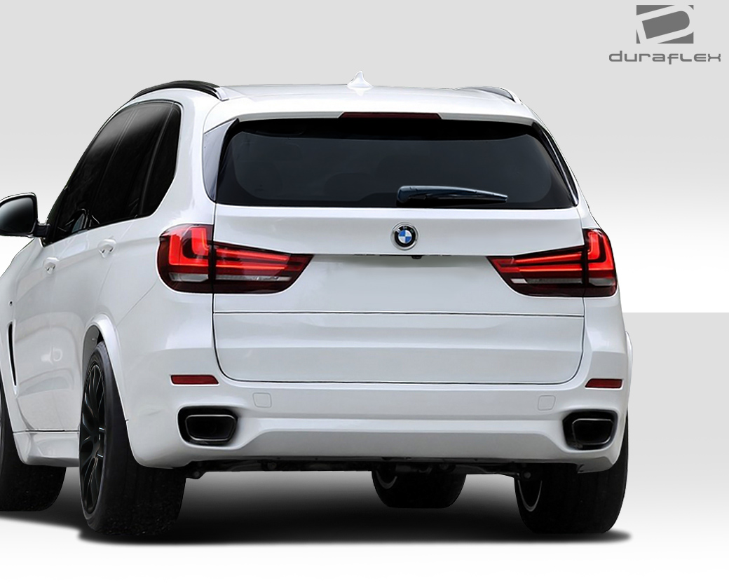 extreme dimensions 2013 2014 bmw x5 f15 duraflex m sport look rear bumper cover 1 piece. Black Bedroom Furniture Sets. Home Design Ideas