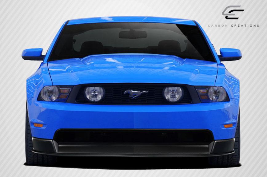 2011 ford mustang carbon fiber front lip add on body kit. Black Bedroom Furniture Sets. Home Design Ideas