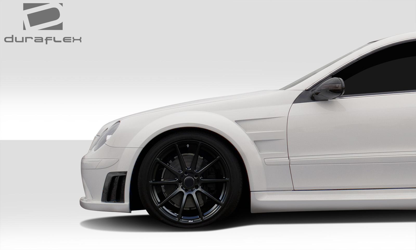 03 09 mercedes clk black series duraflex wide body kit for Mercedes benz clk black series body kit