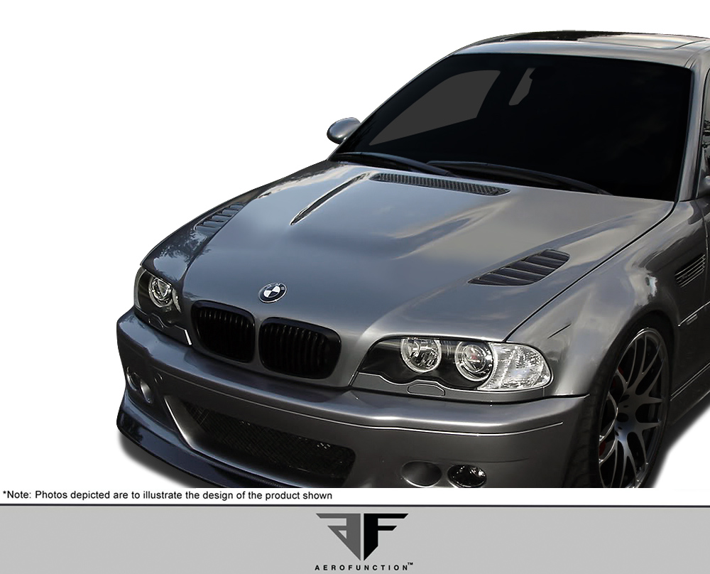 2001 BMW M3  Hood Body Kit - 2001-2006 BMW M3 E46 AF-2 Hood ( GFK )- 1 Piece