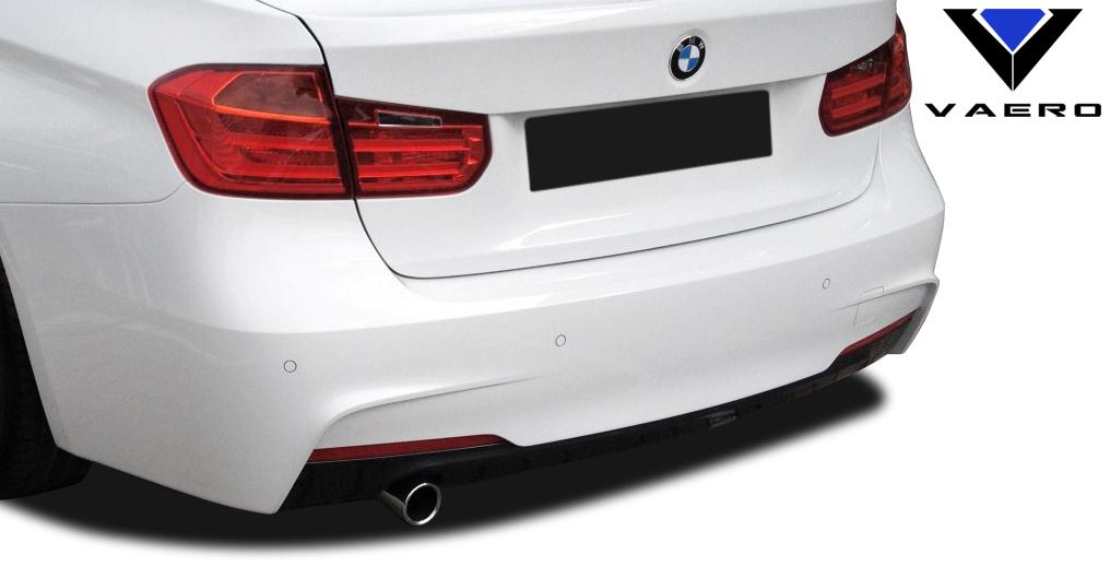 2016 BMW 3 Series ALL - Polypropylene Rear Bumper Bodykit - BMW 3 Series 320i F30 Vaero M Sport Look Rear Bumper Cover ( with PDC ) - 2 Piece