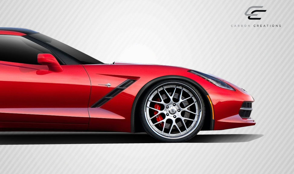 2014 Chevrolet Corvette ALL - Carbon Fiber Fibre Fender Flare Bodykit - Chevrolet Corvette C7 Carbon Creations ZR-C Fender Flares - 4 Piece
