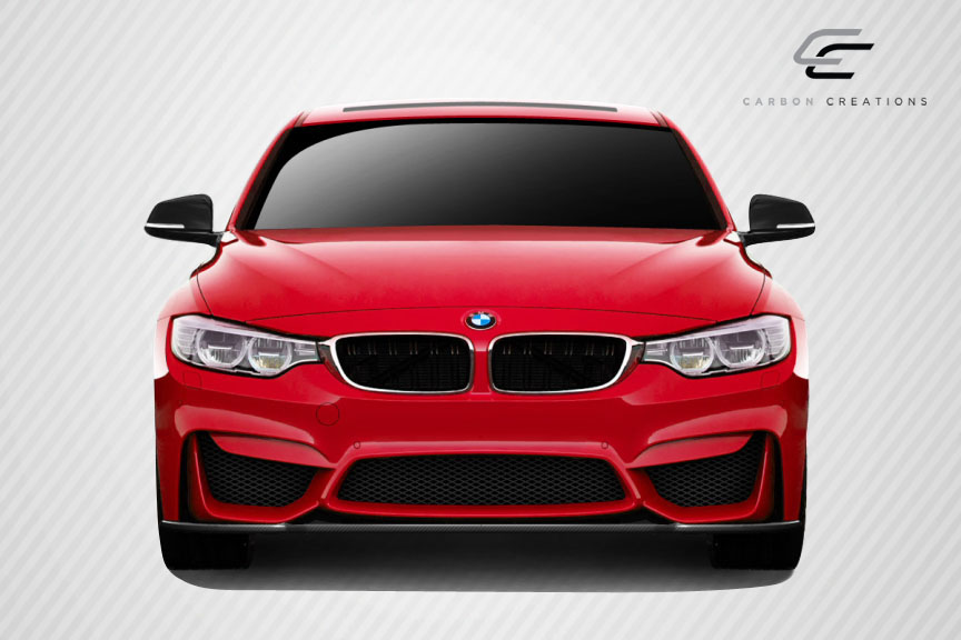 2012 BMW 3 Series 4DR - Carbon Fiber Fibre Front Bumper Bodykit - BMW 3 Series F30 Carbon Creations M3 Look Front Splitter ( must be used with M3 Look