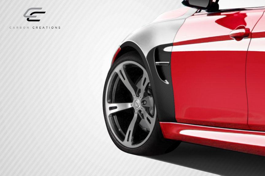 2013 BMW 3 Series 4DR - Carbon Fiber Fibre Fender Bodykit - BMW 3 Series F30 Carbon Creations M3 Look Front Fenders - 4 Piece