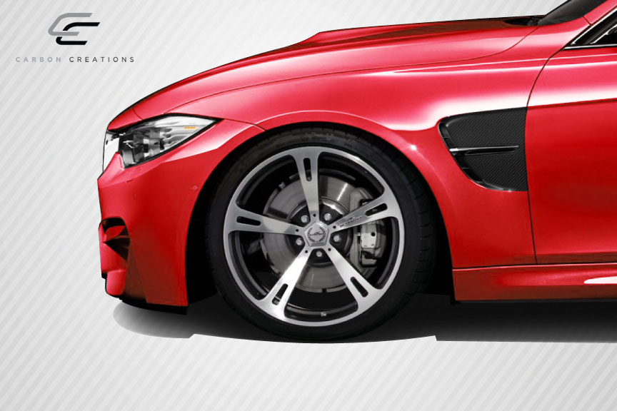 2014 BMW 3 Series 4DR - Carbon Fiber Fibre Fender Bodykit - BMW 3 Series F30 Carbon Creations M3 Look Front Fenders - 4 Piece