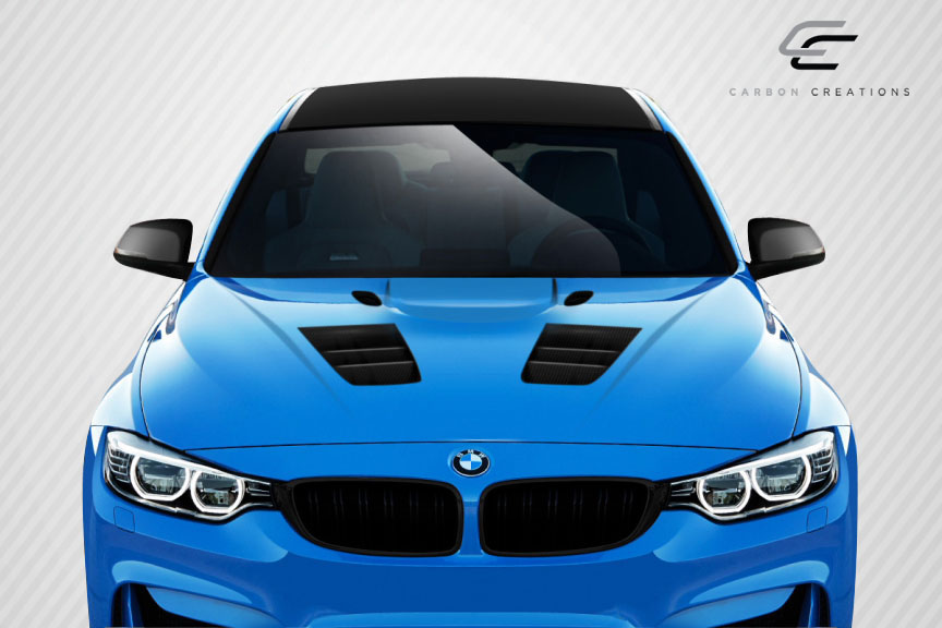 2016 BMW 3 Series 4DR - Carbon Fiber Fibre Hood Bodykit - BMW 3 Series F30 / 2014-2016 4 Series F32 Carbon Creations Eros Version 1 Hood - 1 Piece