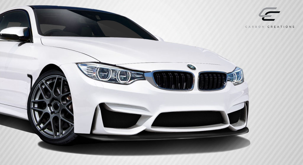 2014 BMW 4 Series ALL - Carbon Fiber Fibre Front Bumper Bodykit - BMW 4 Series F32 Carbon Creations M4 Look Front Splitter ( must be used with M3 Look