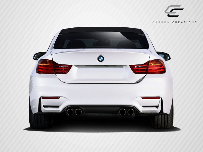 2016 BMW 4 Series ALL - Carbon Fiber Fibre Rear Lip/Add On Bodykit - BMW 4 Series F32 Carbon Creations M4 Look Rear Diffuser ( must be used with M4 lo