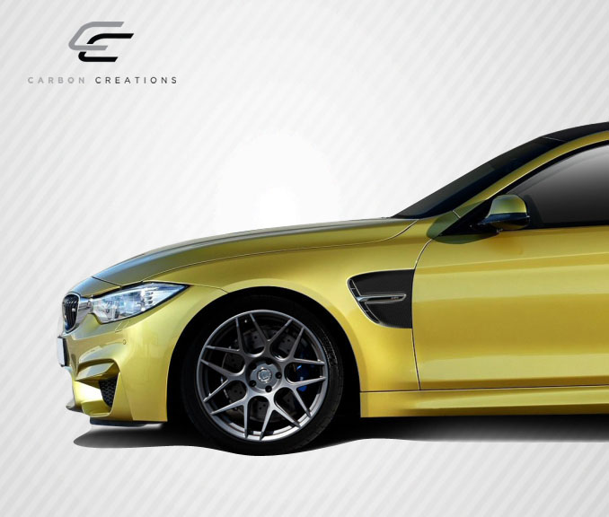 2015 BMW 4 Series ALL - Carbon Fiber Fibre Fender Bodykit - BMW 4 Series F32 Carbon Creations M4 Look Front Fenders -  4 Piece