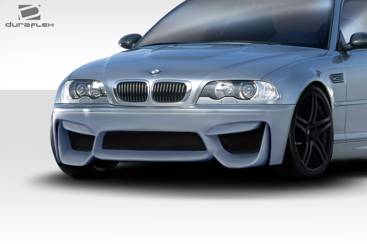2001 2006 bmw m3 e46 duraflex m4 look front bumper 1. Black Bedroom Furniture Sets. Home Design Ideas