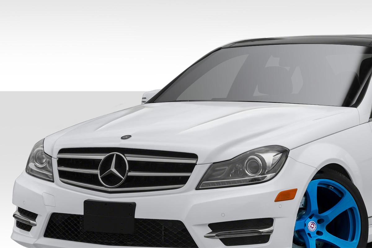 12 14 mercedes c class c63 look duraflex body kit hood for Mercedes benz c class body kit