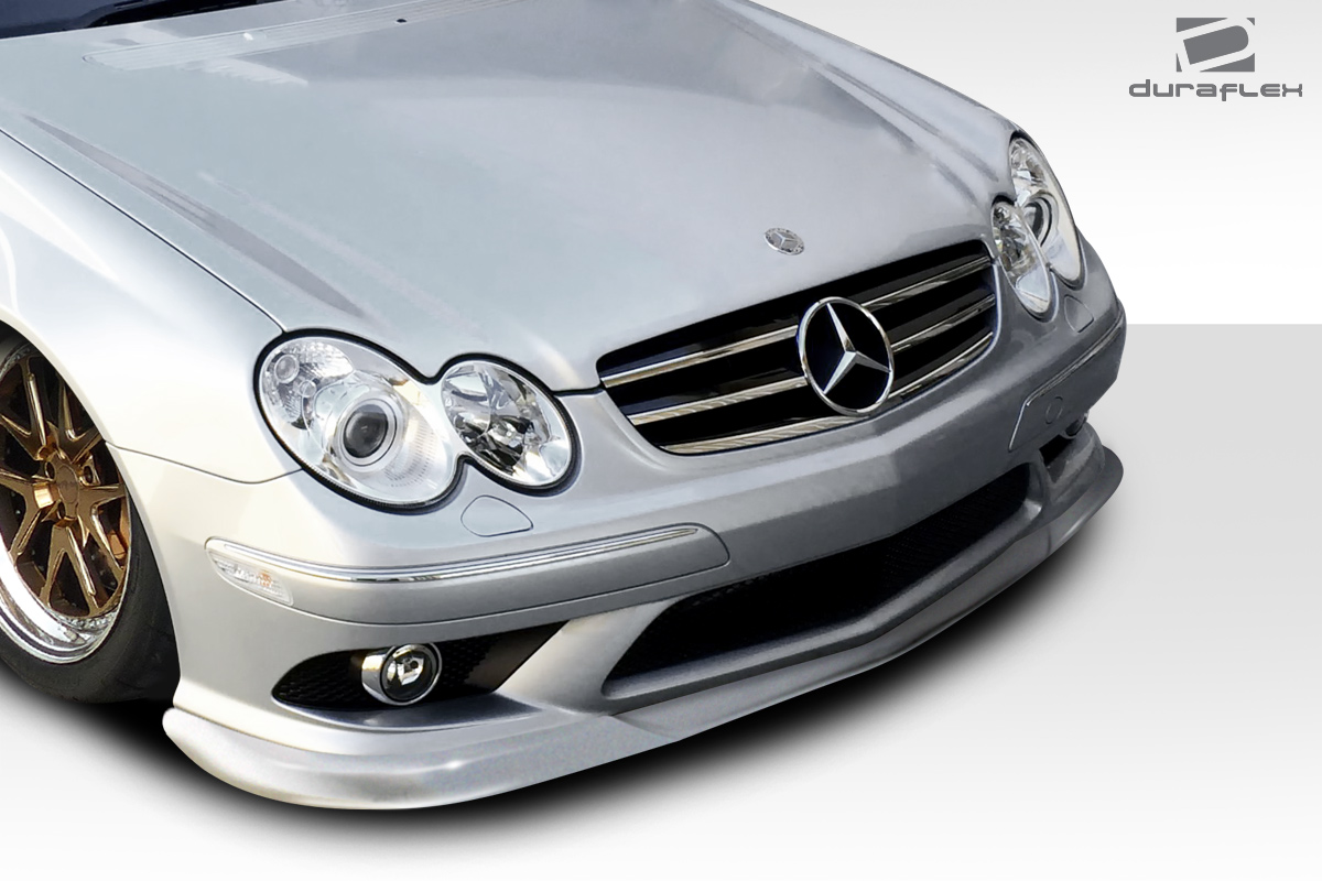 fiberglass front lip add on body kit for 2004 mercedes clk 2003 2006 mercedes clk55 w209. Black Bedroom Furniture Sets. Home Design Ideas