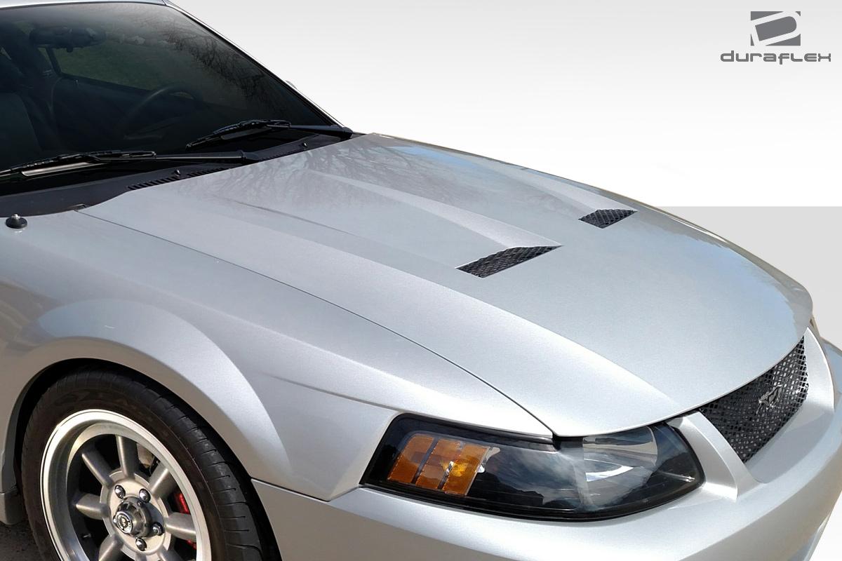 99 04 ford mustang cobra look duraflex body kit hood. Black Bedroom Furniture Sets. Home Design Ideas