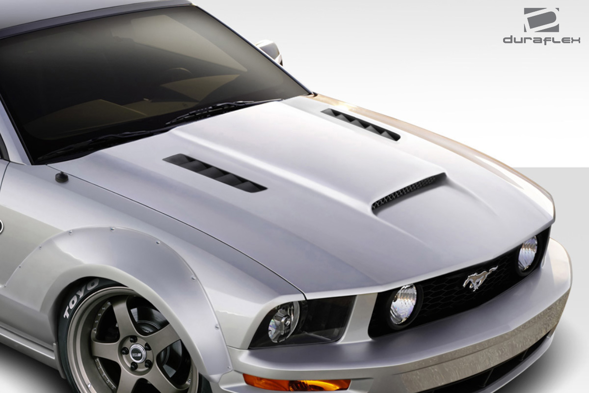 2005 2009 ford mustang duraflex cvx version 3 hood 1. Black Bedroom Furniture Sets. Home Design Ideas