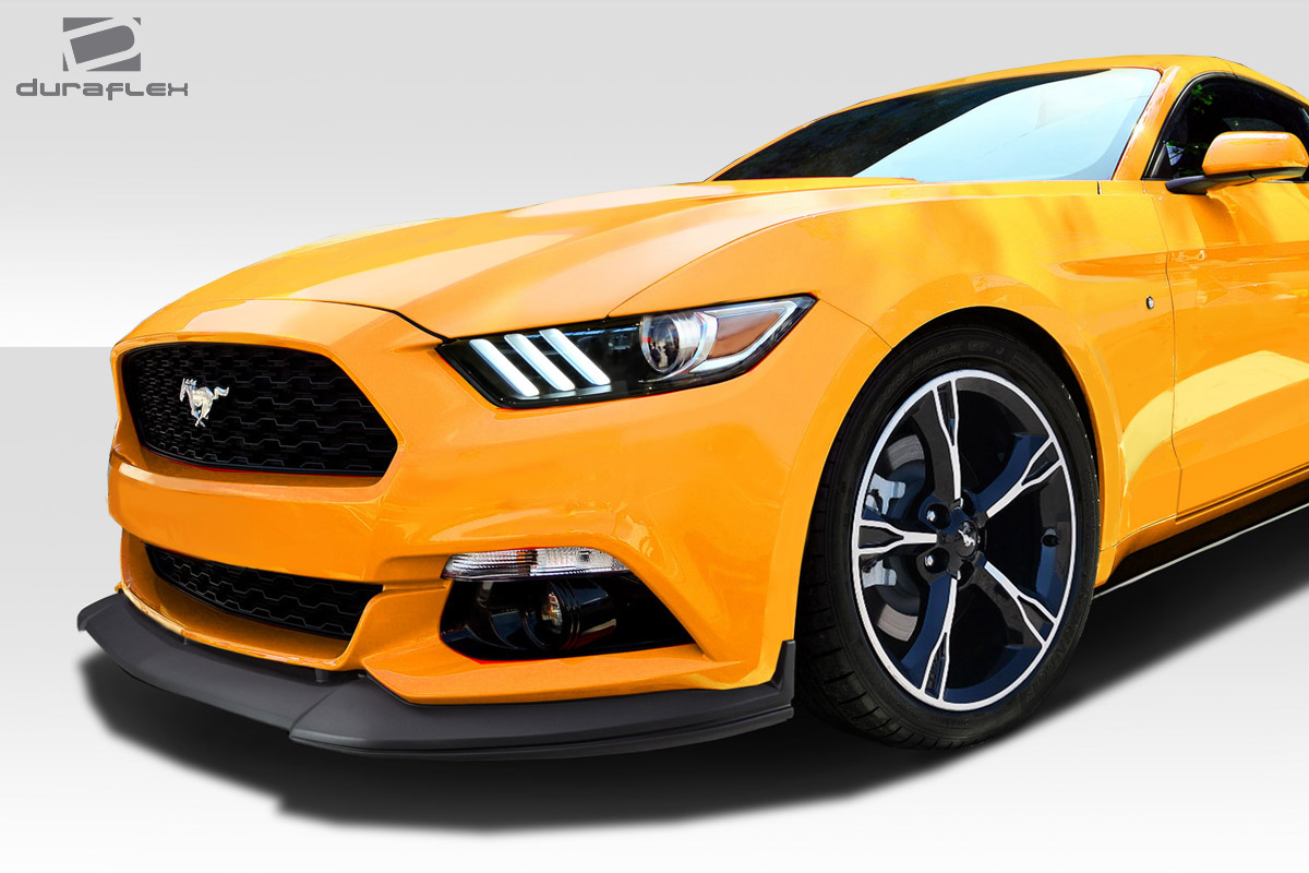2015 ford mustang 0 front lip add on body kit 2015 2017. Black Bedroom Furniture Sets. Home Design Ideas