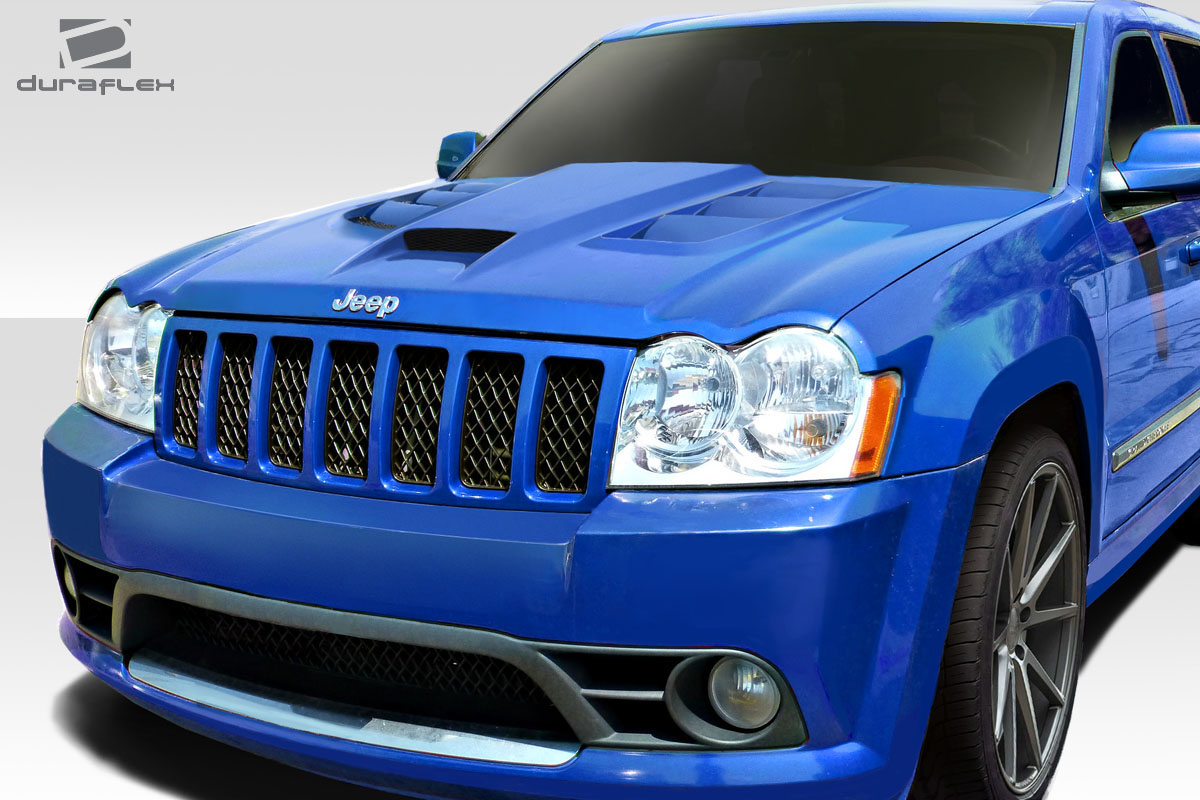 hood body kit for 2009 jeep grand cherokee 2005 2010 jeep grand cherokee duraflex viper look. Black Bedroom Furniture Sets. Home Design Ideas