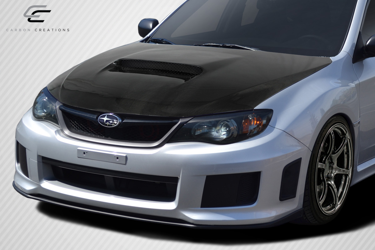 08 11 subaru impreza sti carbon fiber creations body kit hood 113011 6544839162996 ebay. Black Bedroom Furniture Sets. Home Design Ideas