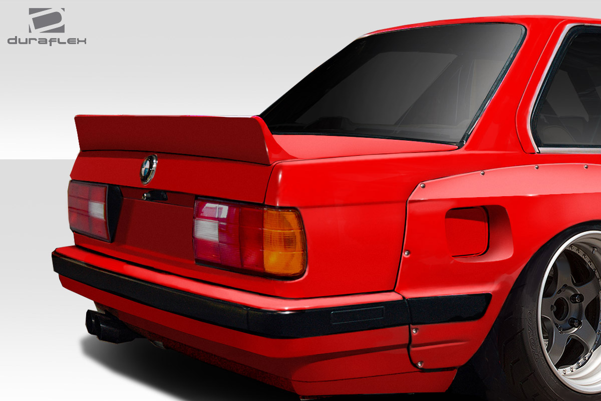 duraflex tko rear wing spoiler 1 piece for 1984 1991 bmw. Black Bedroom Furniture Sets. Home Design Ideas