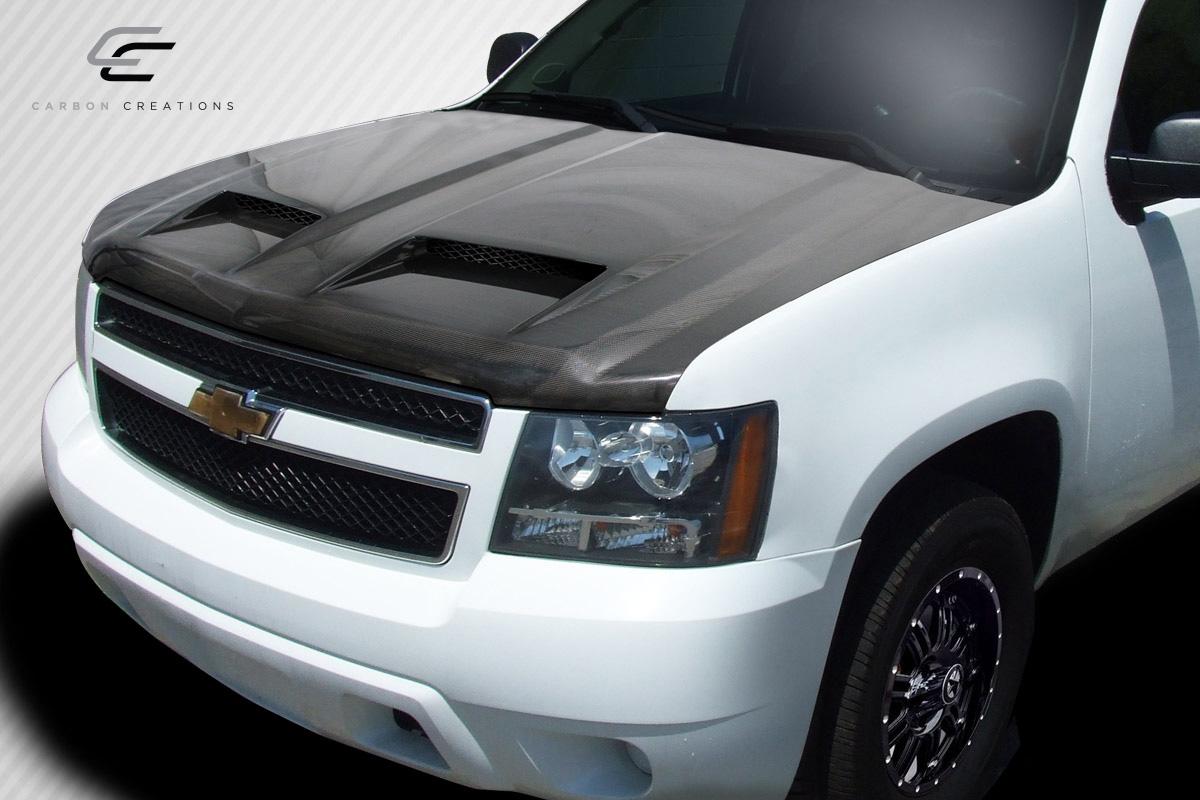 ... Carbon Fiber Hood Body Kit for 2014 Chevrolet Tahoe - 2007-2014 Chevrolet  Tahoe Avalanche ...