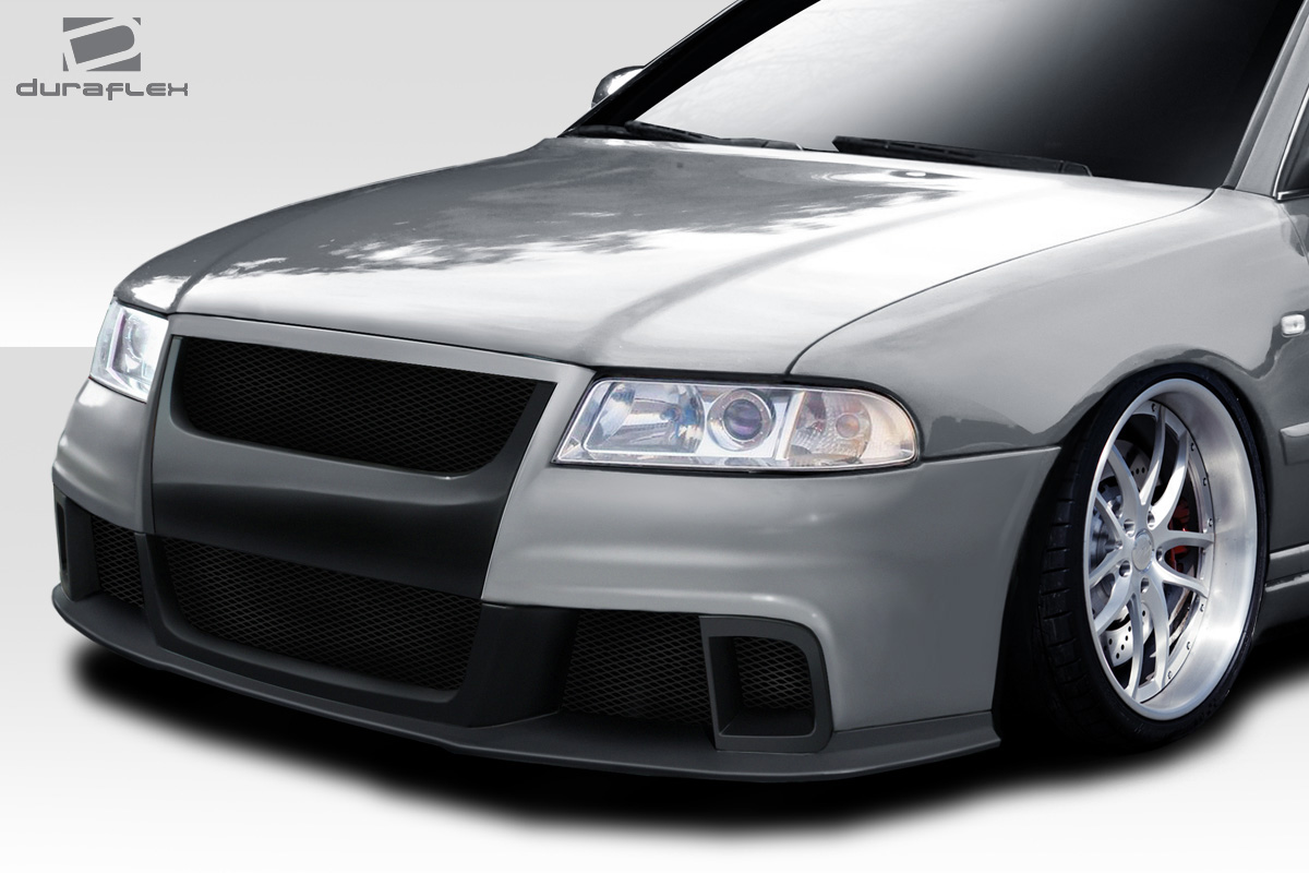 1996 2001 audi a4 b5 duraflex version 2 front bumper 1 piece body kit ebay. Black Bedroom Furniture Sets. Home Design Ideas