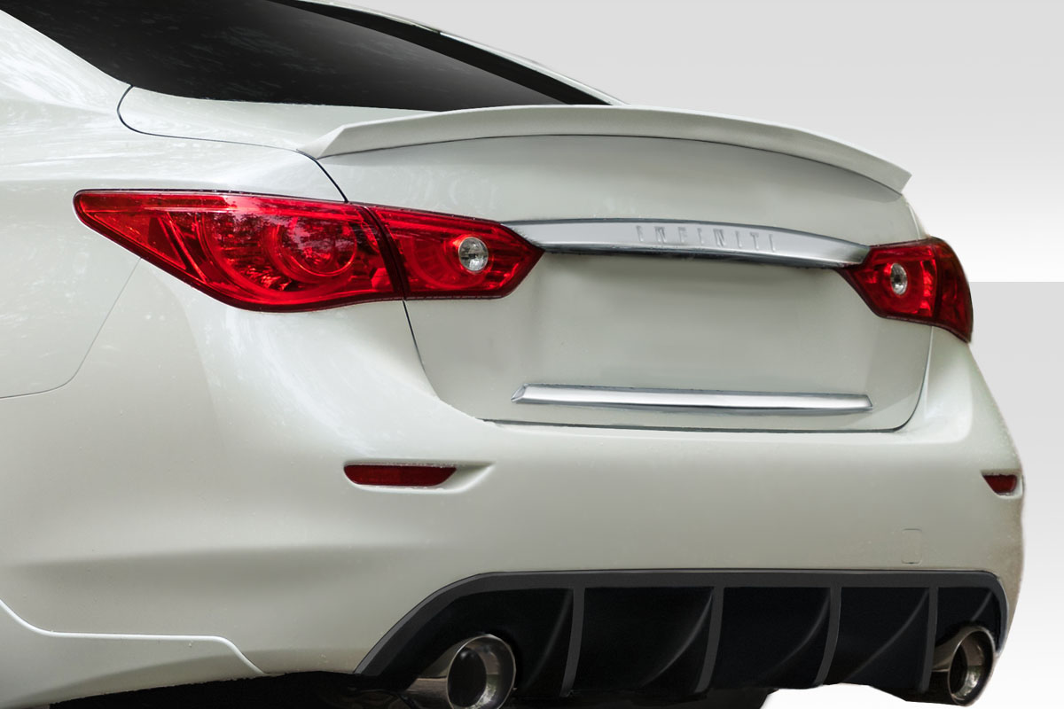 2017 Infiniti Q50 0 Wing Spoiler Body Kit - 2014-2019 Infiniti Q50 Duraflex VIP Wing Spoiler - 1 Piece