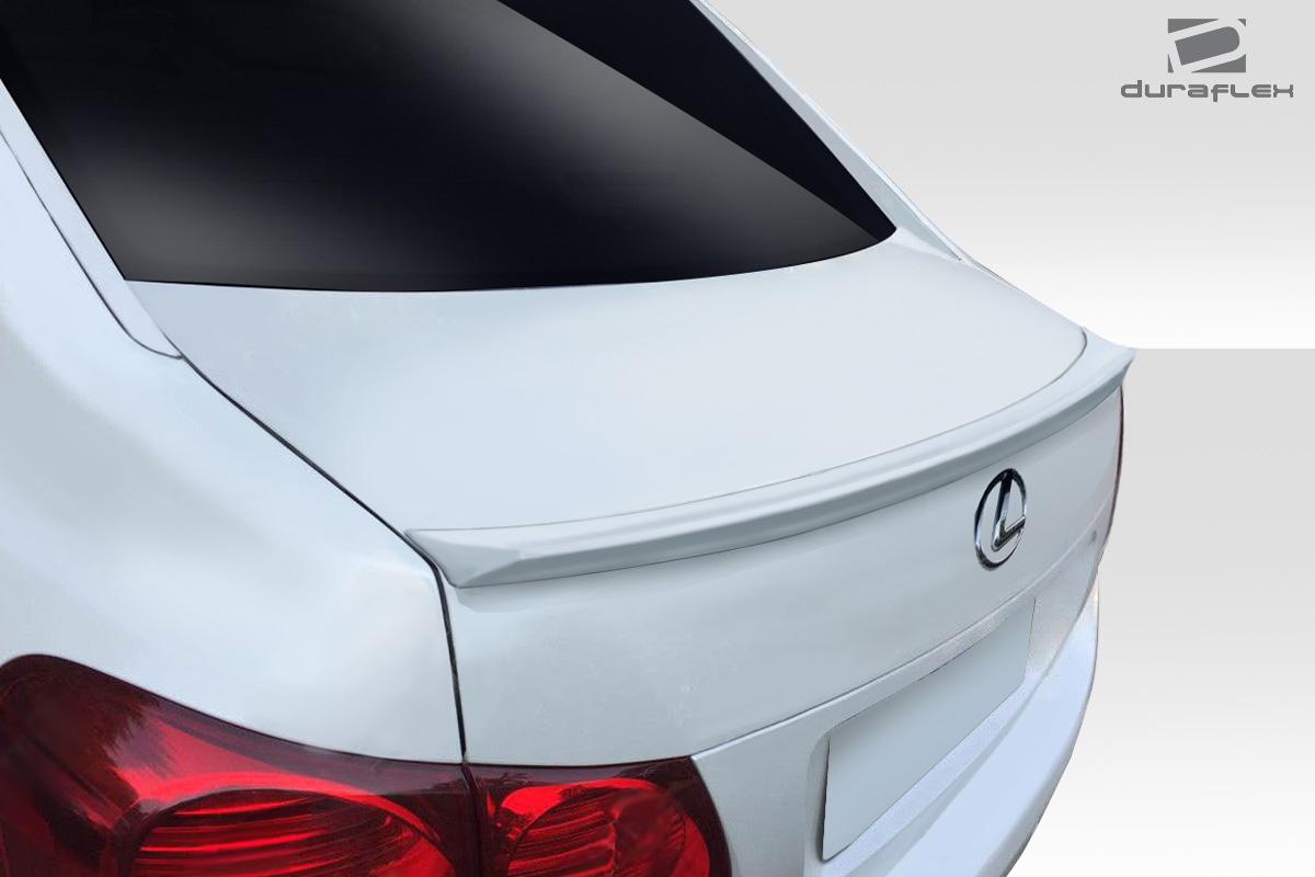 2008 Lexus GS 0 Wing Spoiler Body Kit - 2006-2011 Lexus GS Series GS300 GS350 GS430 GS450 GS460 Duraflex I-Spec Wing Trunk Lid Spoiler - 1 Piece